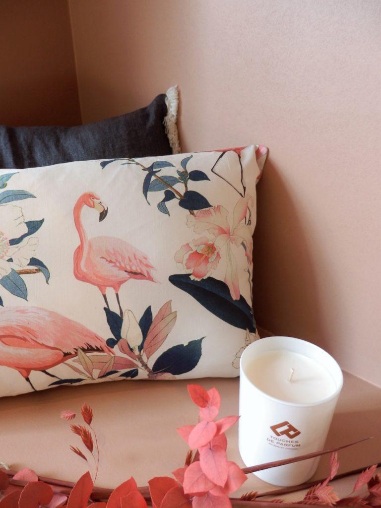 SOLIZA - EKLERLA Coussin Flamingo